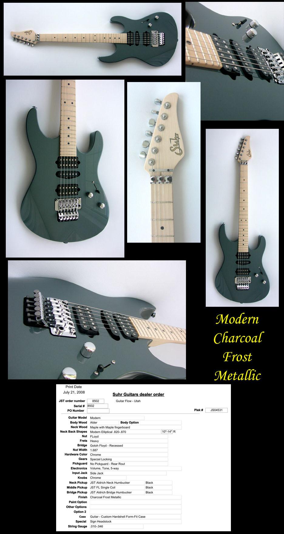 John Suhr Modern Charcoal Frost Metallic