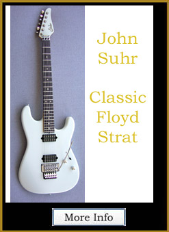 "JOHN SUHR GUITARS Classic Strat, Floyd Rose, Color, ""Olympic White"""