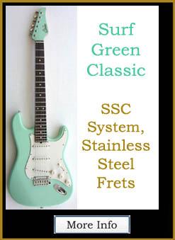 "John                                 Suhr Guitar Classic Strat, Alder, Color                                 ""Surf Green"""