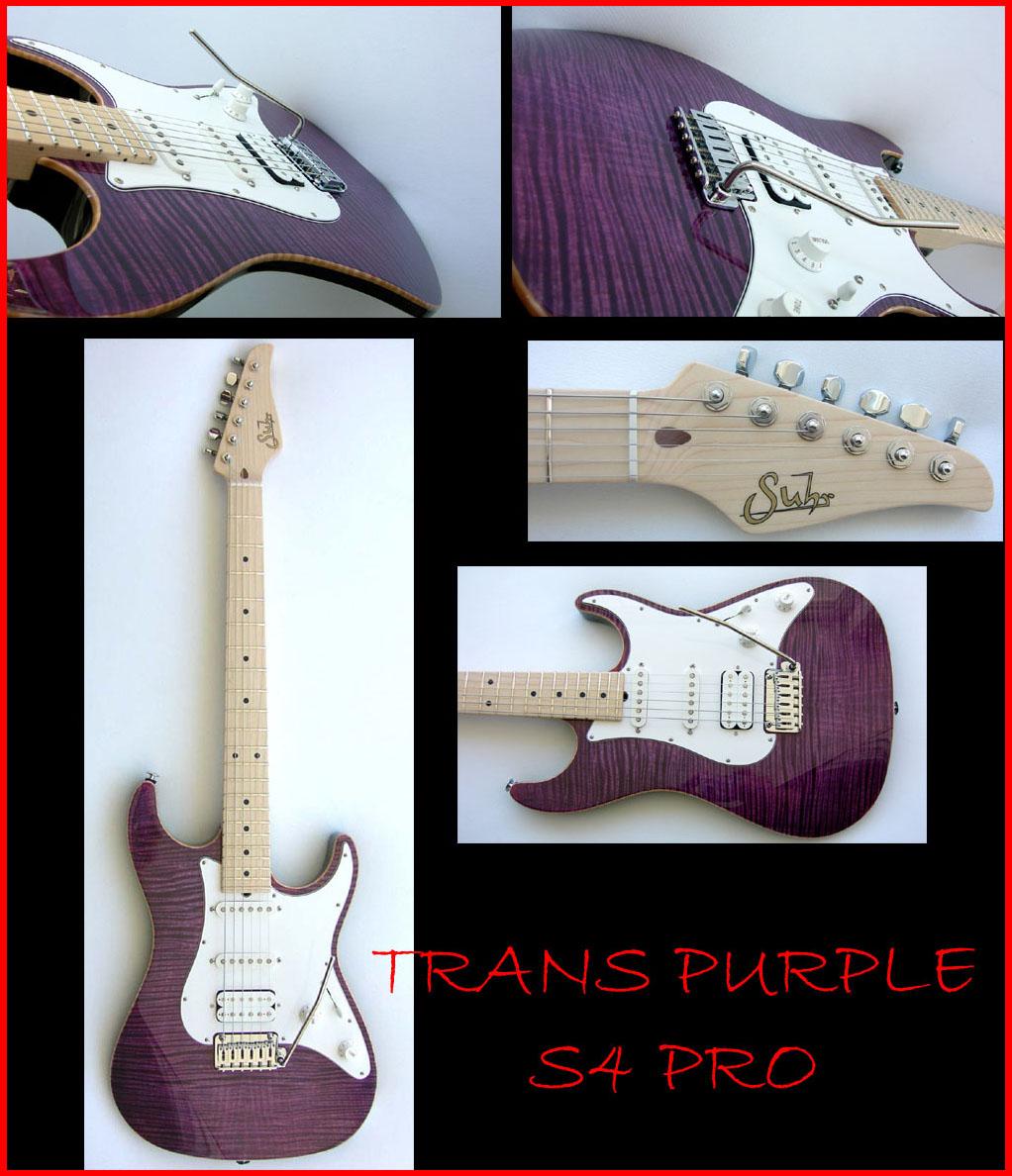 John Suhr Custom Guitar Trans Purple S4